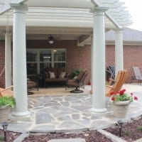 Paver Patio with Pergola with swings
